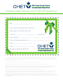 Connecticut Higher Education Trust (chet) Gift Deposit Form