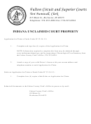 Indiana Unclaimed Court Property