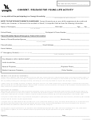 Consent Release Form For Young Life Activity