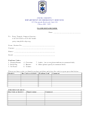 Cecil County Department Of Emergency Services Pager Repair Form
