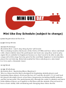 Mud 2015 Schedule Mighty Uke Day
