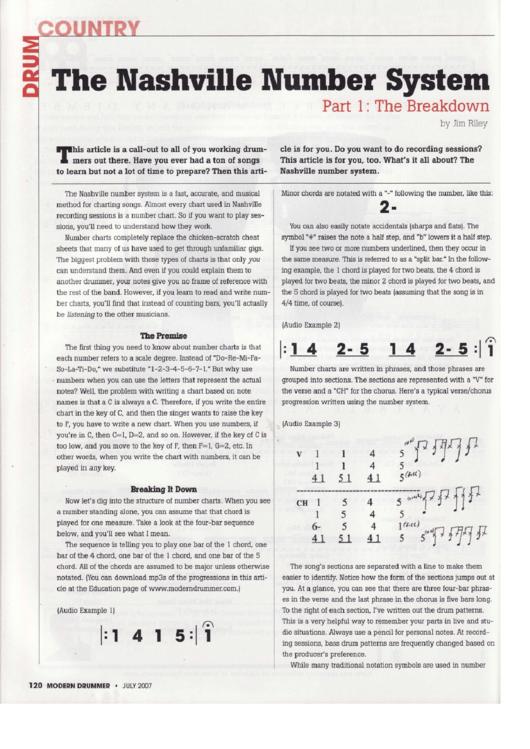 the nashville number system printable pdf download