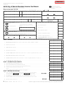 Form 5118 - City Of Detroit Resident Income Tax Return - 2015