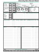 Alternity Hero Record Sheet