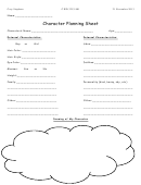 Character Planning Worksheet