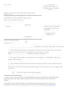 Affidavit In Support Of Modification Of Support