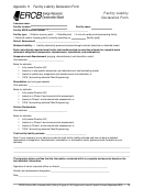 Facility Liability Declaration Form