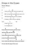 Drops Chord Chart; Key Of D - Hawk Nelson
