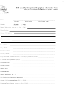 H-1b Specialty Occupations Biographical Information Form