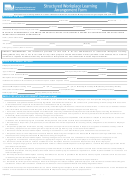 Structured Workplace Learning Arrangement Form