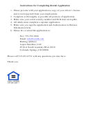 Rental Application Template Woth Instructions