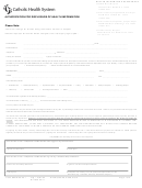 Authorization For Disclosure Of Health Information