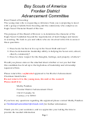 Eagle Scout Confidential Reference Letter