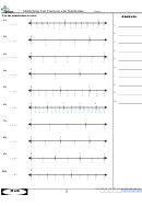 Multiplying Unit Fractions With Numberline Worksheet With Answer Key