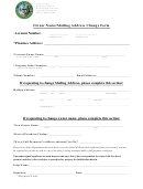 Owner Name Mailing Address Change Form