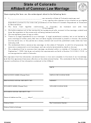 Affidavit Of Common Law Marriage