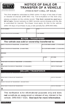 Notice Of Sale Or Transfer Of A Vehicle
