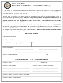 Clear And Present Danger Police Report Form