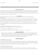 Sports Marketing Assistant Resume