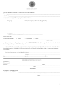 Deed Of Gift Form (sample) - University Of California