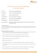 Neilson Business Development Manager Job Description