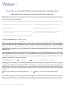 Transfer On Death Tod Beneficiary Form Printable Pdf Download