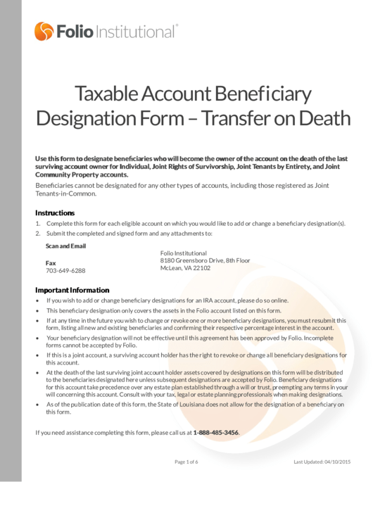 Top 11 Transfer On Death Deed Form Templates Free To Download In Pdf Format