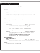 Sample First College Resume