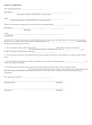 Sublet Agreement