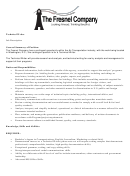 The Freshel Company Technical Writer Job Description