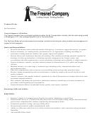 The Freshel Company Technical Writer Job Description