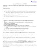Junior Technical Writer Job Description Template