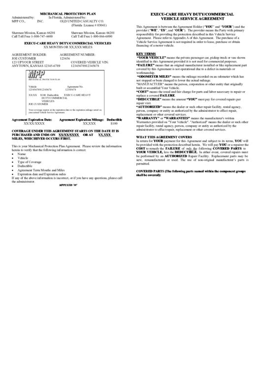 Mechanical Protection Plan