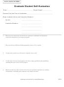 Graduate Student Self-evaluation