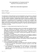 Health Care Consultant Agreement