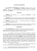 Guaranty Agreement
