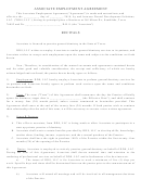 Associate Employment Agreement Template