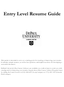 Entry Level Resume Guide