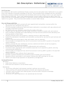 Job Description Template - Esthetician