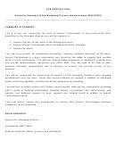 Job Description Executive Assistant To The Managing Director