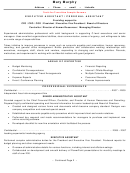 Tools For Transition Sample Resume Executive Assistant / Personal Assistant