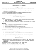 Sample Resume Chef Or Prep Cook