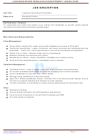 Job Description Template - Freelance Recruitment Consultant