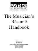 The Musician's Resume Handbook