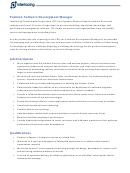 Job Description Software Development Manager