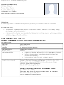 Sample Resume For Software Engineer
