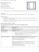 Sample Resume For Software Engineer