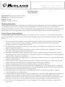 Midland Corp Job Description Sales Manager