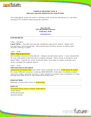 Sample Resume For A Retail Sales Associate Position