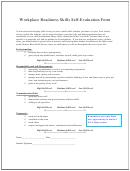 Workplace Readiness Skills Self-evaluation Form